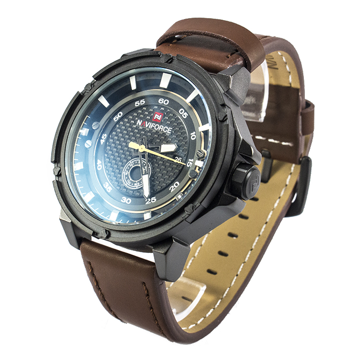Часы Naviforce 9083BBRB Black Brown Band + Коробочка