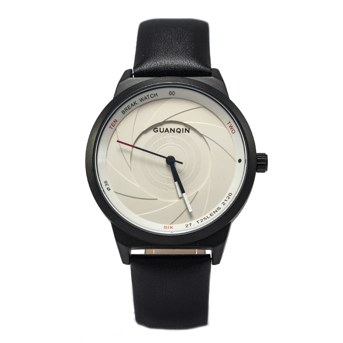 Часы Guanqin GS19074 Leather Black White