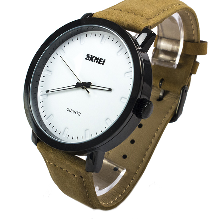 Часы Skmei 1196 White Brown Band