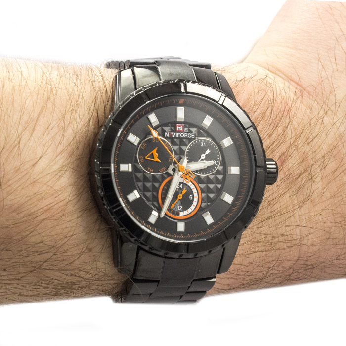 Часы Naviforce 9145BKO Black-Orange