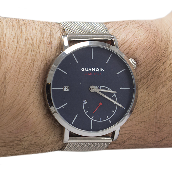 Часы Guanqin GS19083 Metal Silver Blue
